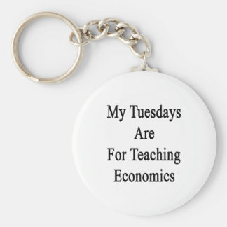 My Tuesdays Are For Teaching Economics Basic Round Button Key Ring