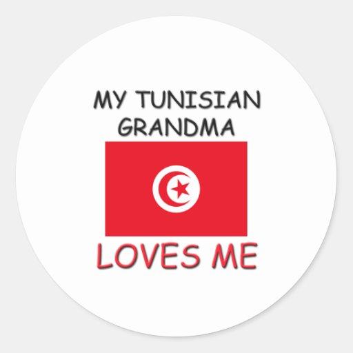 My Tunisian Grandma Loves Me Round Stickers