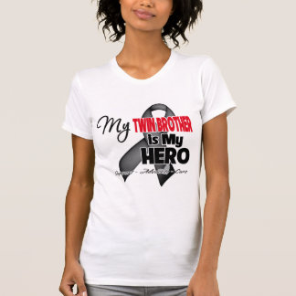 My Twin Brother is My Hero - Skin Cancer Tshirt