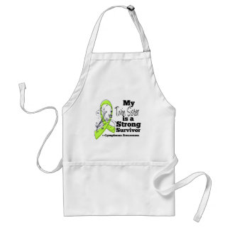 My Twin Sister is a Strong Survivor of Lymphoma Standard Apron