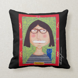 My Two Faced pillow. Created from my folk art. Cushion
