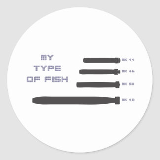 My Type of Fish Classic Round Sticker