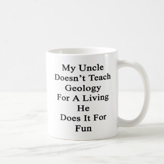 My Uncle Doesn't Teach Geology For A Living He Doe Basic White Mug