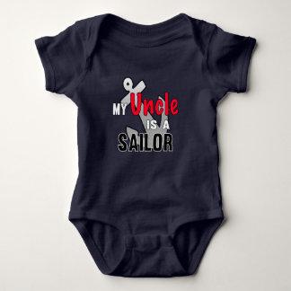 My Uncle is A Sailor Baby Bodysuit
