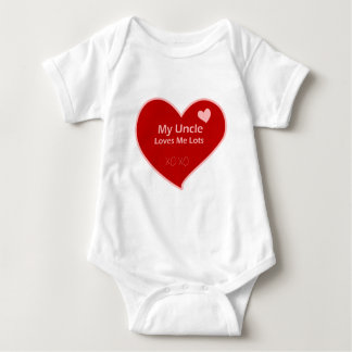 My Uncle Loves Me Baby Bodysuit