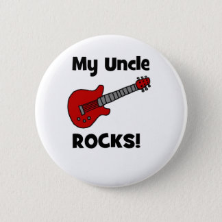 My Uncle Rocks! with guitar 6 Cm Round Badge