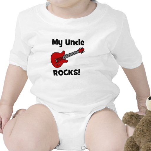 My Uncle Rocks! with guitar Baby Bodysuits