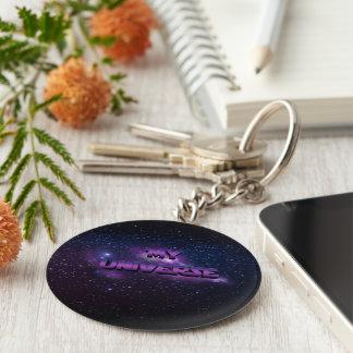 My Universe Basic Round Button Key Ring