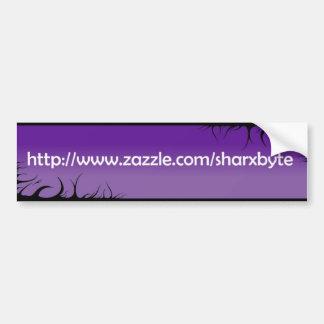My URL (purple, white text) Car Bumper Sticker