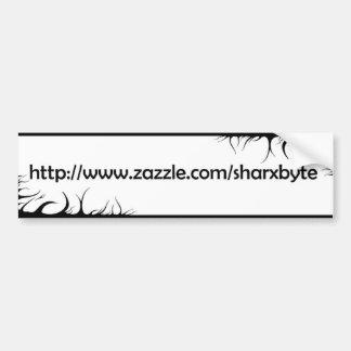 My URL (White, black text) Bumper Sticker