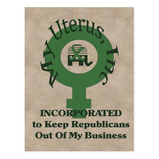 My Uterus, Inc Post Cards