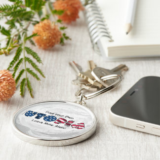 My Utopia Silver-Colored Round Key Ring
