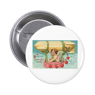 My Valentine I Love You Dearly Pinback Button