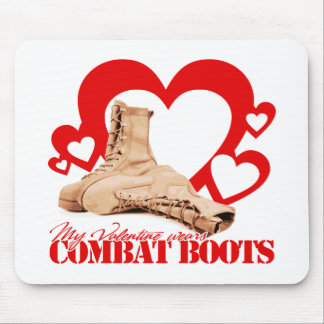 My Valentine wears combat boots Mouse Pads