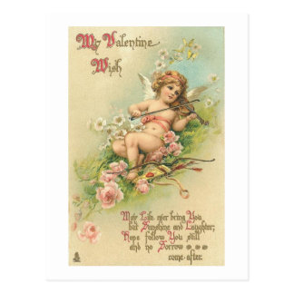 My Valentine Wish Postcard