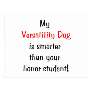 My Versatility Dog is Smarter Postcards