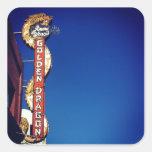 My Vintage Life - Golden Dragon Neon Sign Square Sticker