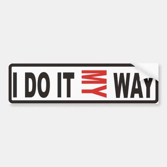 My way bumper sticker