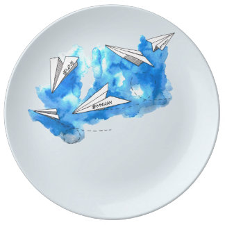 my way porcelain plates
