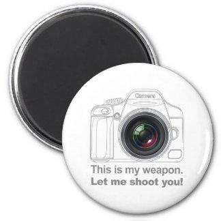 My Weapon 6 Cm Round Magnet