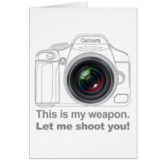 My Weapon Greeting Card