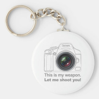My Weapon Basic Round Button Key Ring