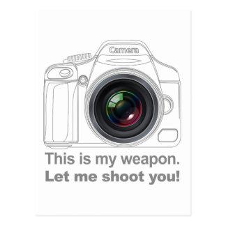 My Weapon Postcard