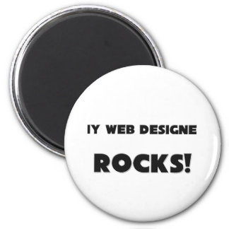 MY Web Designer ROCKS! 6 Cm Round Magnet