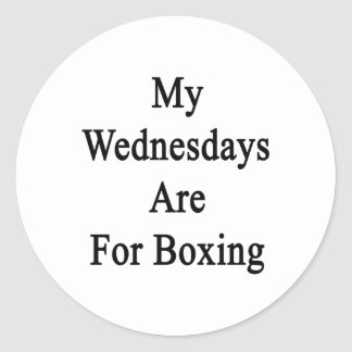 My Wednesdays Are For Boxing Sticker