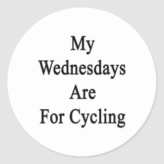 My Wednesdays Are For Cycling Round Stickers