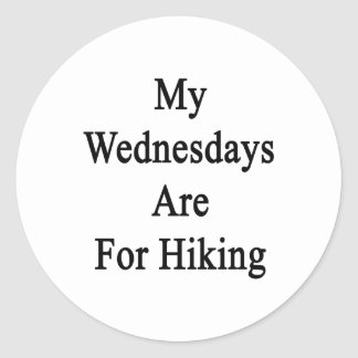 My Wednesdays Are For Hiking Sticker