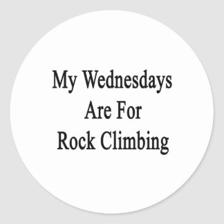 My Wednesdays Are For Rock Climbing Stickers