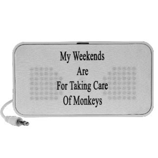 My Weekends Are For Taking Care Of Monkeys Laptop Speakers