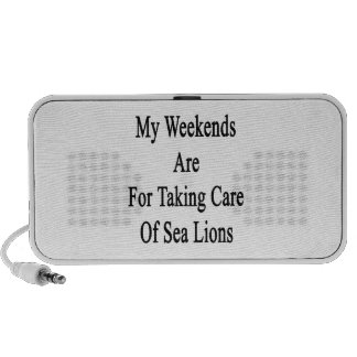 My Weekends Are For Taking Care Of Sea Lions iPhone Speakers