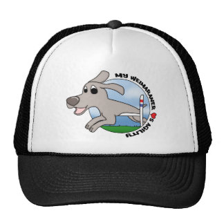 My Weimaraner Loves Agility Trucker Hat