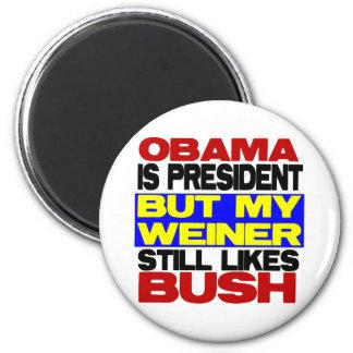 My Weiner Still Likes Bush 6 Cm Round Magnet