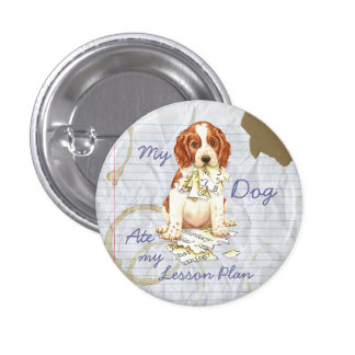 My Welsh Springer Ate My Lesson Plan 3 Cm Round Badge