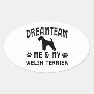 My Welsh Terrier Dog Oval Sticker