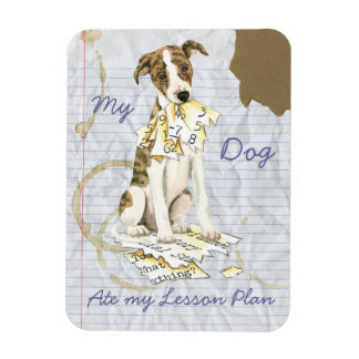My Whippet Ate My Lesson Plan Rectangular Photo Magnet