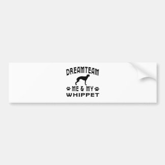 My Whippet Dog Bumper Sticker