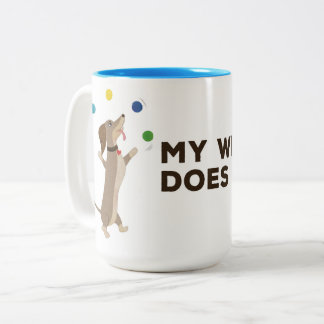 My Wiener Does Tricks Two-Tone Coffee Mug