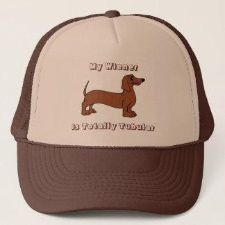 My Wiener is Totally Tubular Retro Trucker Hat