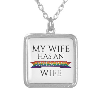 My Wife Has an Awesome Wife Silver Plated Necklace