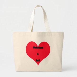 My Wife/Husband is Jumbo Tote Bag