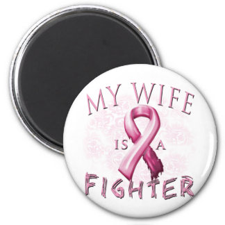 My Wife is a Fighter Pink 6 Cm Round Magnet