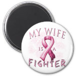 My Wife is a Fighter Pink Magnet