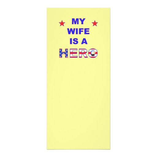 My Wife Is A Hero Rack Cards
