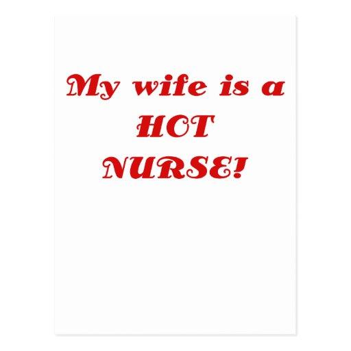 My Wife is a Hot Nurse Post Card