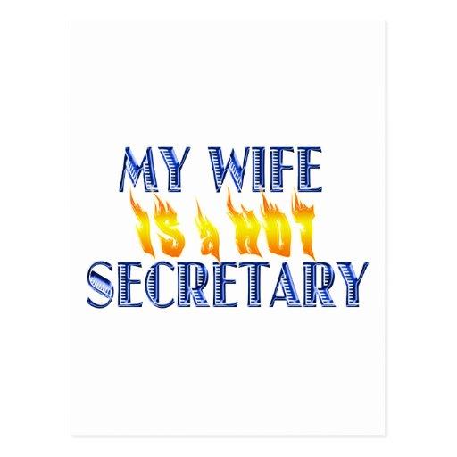 MY WIFE IS A HOT SECRETARY POST CARD