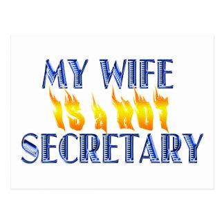 MY WIFE IS A HOT SECRETARY POSTCARD